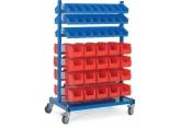 Mobile stocker 2 x 7 bin supports PROVOST