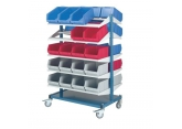 Mobile stockers 10 shelves for Probox bins PROVOST
