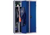 One-piece dirty industrial locker
