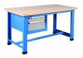 Industrial workbench with compartment with 2 drawers