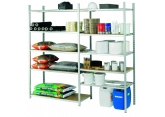 Tubular galvanised shelving