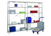 Prospace + sheet metal shelving galvanised PROVOST