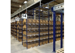 Boxes in sloping storage for picking PROVOST