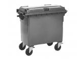 Rolling waste bin 4 wheels 660 L PROVOST