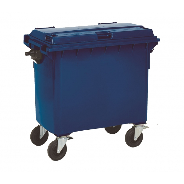 Rolling waste container