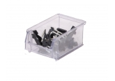 Bin with spout SYSTEMBOX transparent L.160 x W.100 x H.75 PROVOST