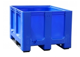 Pallet crate blue for selective sorting