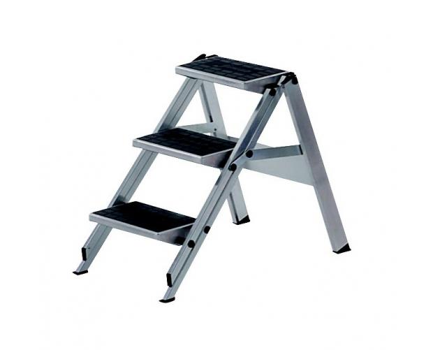 Stepladder 3 Steps Aluminium