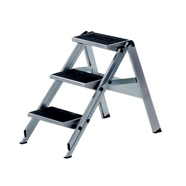 Folding stepladder with 3 steps  sc 1 st  Provost Racking & stepladder 3 steps aluminium islam-shia.org