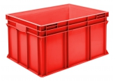Stackable bin 800 x 600 red PROVOST