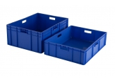Blue stackable crate 800 x 600 mm PROVOST