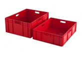 Red stackable crate 800 x 600 mm PROVOST