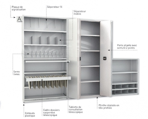 Accessories archive shelving PROVOST
