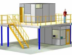 Space planning / Platform mezzanine