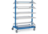 Mobile stocker 2 x 5 shelves without bins PROVOST