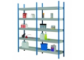 Shelving sump depth 400 mm painted uprights