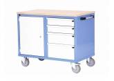 Mobile workbench 1 door 4 drawers PROVOST