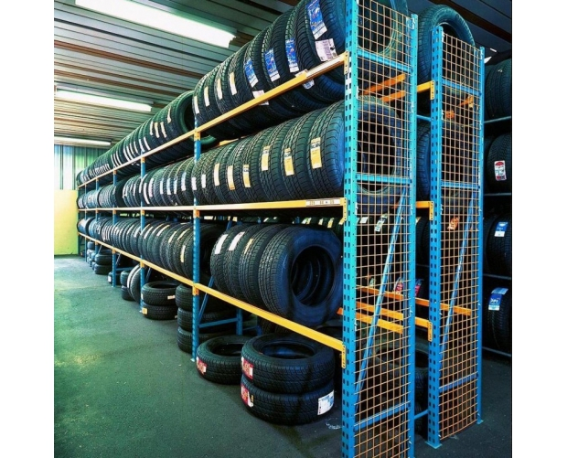 Prorack mid-weight shelving for tyres