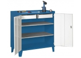 Tool cupboard width 1000 mm 2 shelves 2 drawers