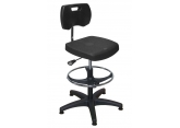 Asynchronous polyurethane seat with foot rest PROVOST