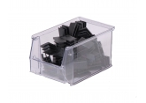 Bin with spout SYSTEMBOX transparent L.230 x W.150 x H.130 PROVOST