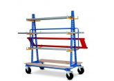 Trolley with 12 prong rack on column PROVOST