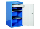 Tool cupboard width 500 mm 2 shelves 1 drawer