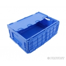 Folding bin integrated lid 600 x 400 PROVOST
